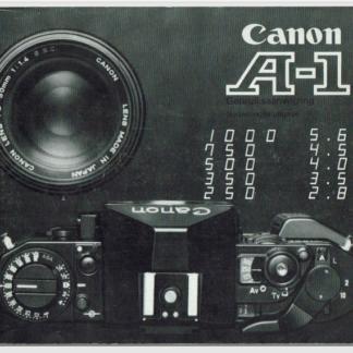 canon a1 gebruiksaanwijzing nederlands
