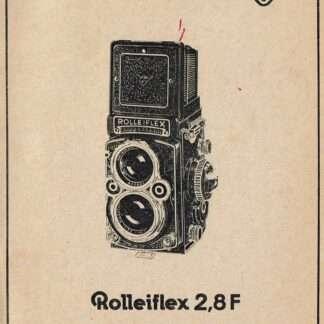 methode de reparation rolleiflex 2,8f