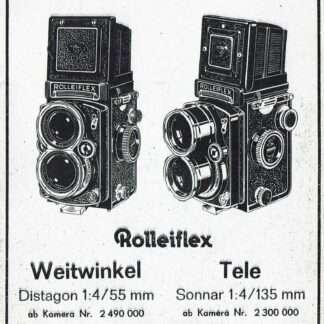 rolleiflex Tele reparatie instructies Duits